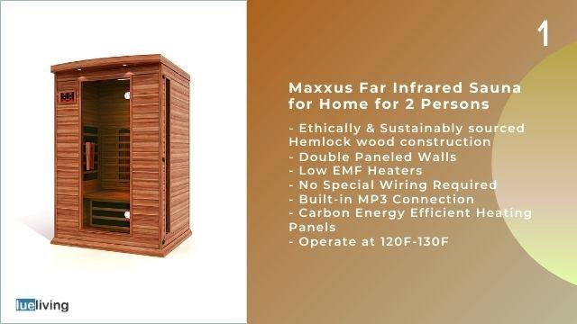maxxus far infrared sauna
