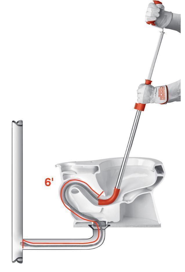 drain auger length